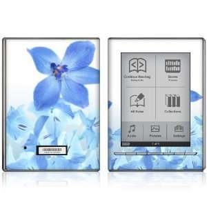 Blue Neon Flower Design Protective Decal Skin Sticker for