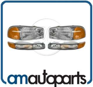 GMC Sierra Truck Yukon Headlights Headlamps & Corner Parking Lights