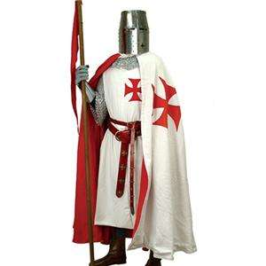 MEDIEVAL Knight Crusader Middle Ages TEMPLAR CAPE New