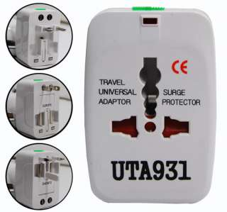 Universal International Travel Power Adapter 110 250V