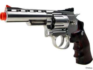 WG 4 CO2 400 FPS Airsoft 6 Shot FULL METAL Revolver Pistol Gun SILVER