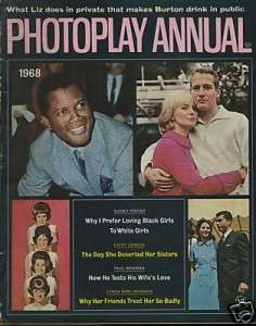 PHOTOPLAY ANNUAL MAGAZINE~PAUL NEWMAN~LYNDA BYRD~1968