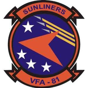 US Navy VFA 81 Sunliners Squadron Decal Sticker 3.8