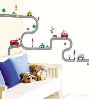 Transport Road Wall Decor Removable Sticker Decals