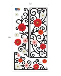 Flowering Fence Wall STICKER Removable Adhesive Decal