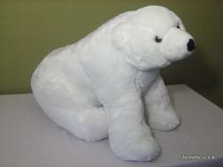 WHITE POLAR BEAR GIANT HUGE BIG STUFFED ANIMAL TOY 33