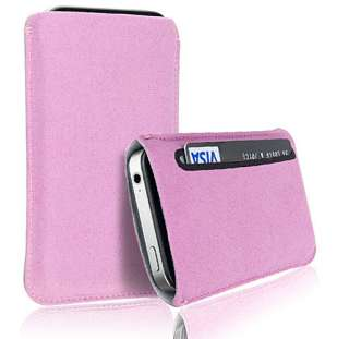 PREMIUM SUEDE LEATHER CASE COVER POUCH FOR VARIOUS MOBILE PHONES