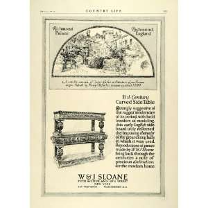 1923 Ad W&J Sloane Table 17th Century Richmond Palace