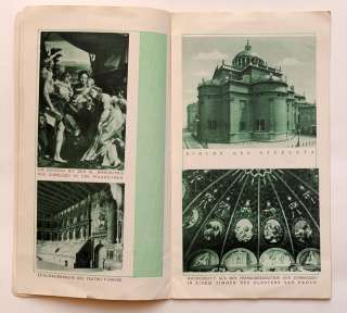 1930s Italy PARMA Vintage Tourism Travel Guide Book Illustrated