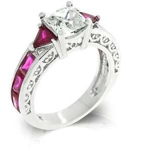 Princess Pink Regal Engagement/Wedding Ring (8): Jewelry