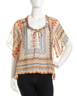 Romeo & Juliet Couture Southwestern Print Top