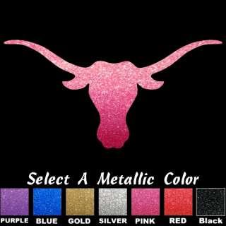 Texas Longhorns UT Bevo Metallic Auto Car Truck Window Sticker Decals
