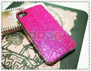 HOT PINK BLING HARD CASE COVER FOR APPLE IPHONE 4 4G