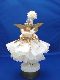 An Original Susan Arnot Batting Christmas angel doll Victorian style