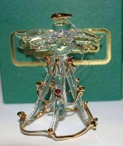Kirklands Blown Glass Angel Christmas Ornament Holiday
