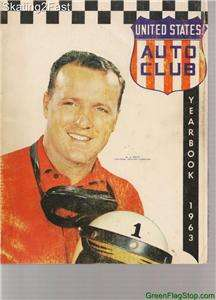1963 USAC United States Auto Club Season Yearbook A.J. Foyt