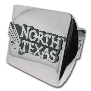 UNT University of North Texas Bright Polished Chrome with