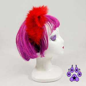 KITTY cat cosplay cYbEr Goth Anime Hat EARS Neko furry HEADBAND fur