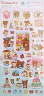San X Rilakkuma Paris Sticker Sheet (SE99003)~KAWAII