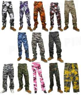 MILITARY CAMOUFLAGE FATIGUE BDU CARGO PANTS 10 COLORS