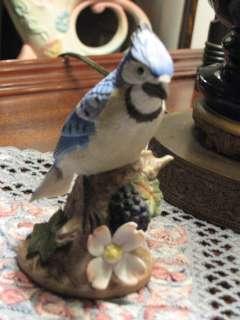 Lefton China Blue Jay 1986 Figurine