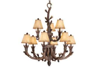 NEW VAXCEL LODGE LIGHTING ASPEN PINE CONES LIGHT CABIN LAMP AS