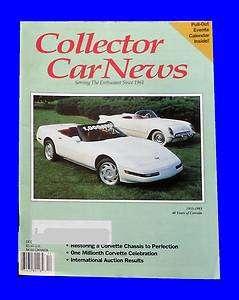 UNREAD,COLLECTOR CAR NEWS DEC 1992,RESTORING CORVETTE,DECEMBER,HOT ROD
