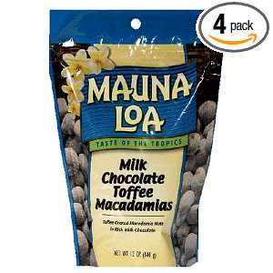 Mauna Loa Milk Chocolate Toffee Macadamias, 11 Ounce Bags (Pack of 4)