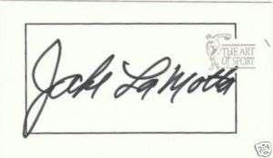 Jake LaMotta Signed 1997 Art of Sport Card Raging Bull AOS