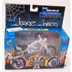 Jesse James Die Cast Motorcycle Cream Color 118 Scale