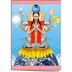 Quan Yin Goddess of Compassion Greeting Card By Suns Eye