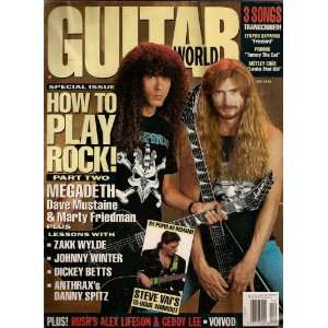 DECEMBER 1991 JOHNNY WINTER STEVE VAI! GUITAR WORLD MAGAZINE Books