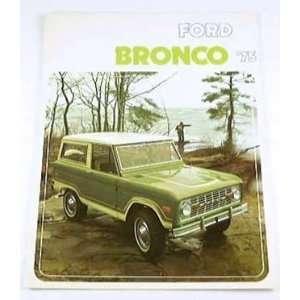 1975 75 Ford BRONCO Truck SUV BROCHURE 4wd Sport