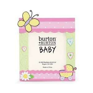 Baby Girl Butterfly Photo Frame Holds 3 1/2 Photo: Baby