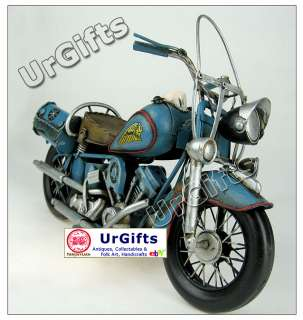 Vintage Hand Art Bar Decor Tin Model Made 1/6 Indian Motorcycle 1969