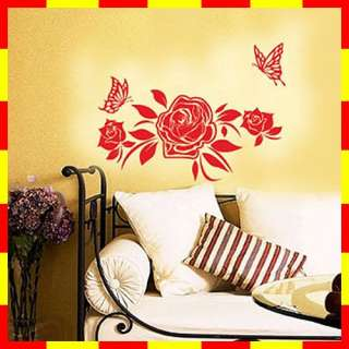 GP 36 ROSE FLOWER Graphic Art Wall Deco Decals Sticker