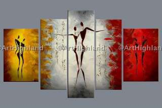 Abstract Oil Painting Paintings on Canvas Art Wall Decor Set Romantic