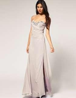 Lipsy VIP Side Split Embellished Maxi Dress SIZE UK 8 NEW Celeb
