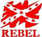 RED Vinyl Decal   Rebel flag confederate south sticker