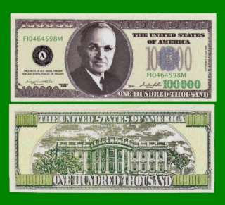 Factory Fresh Harry Truman 100,000 Dollar Bills