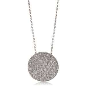 KC Designs Trinkets Diamond 14k White Gold Large Pave Disc Pendant