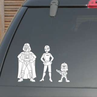 CUSTOM STAR WARS FAMILY KING SIZE STICKER FIGURES CAR WINDOW BIKE