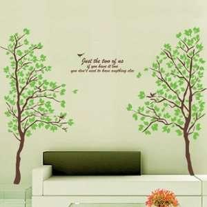 Reusable Lovers Tree Wall Sticker