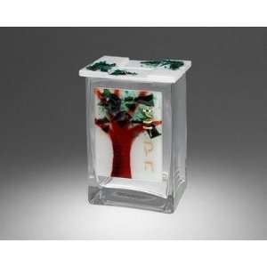 Tree of Life Glass Tzedakah Box Home & Kitchen