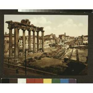 Vintage Travel Poster   View of the Forum Rome Italy 24 X