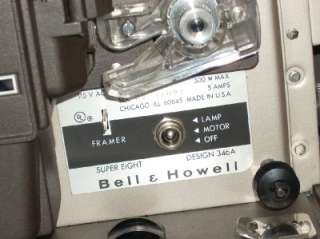 Vintage BELL & HOWELL Autoload SUPER 8mm Movie Projector CLEAN