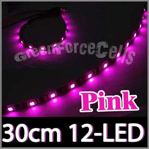 Pink 30cm Flexible Under Car 12 LED Strip Neon Light 1
