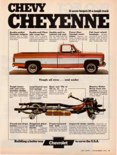 1974 Chevy Cheyenne Pickup Truck Tough All Over Ad