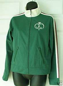 Juicy Couture Green Sporty Striped Zip Track Jacket S