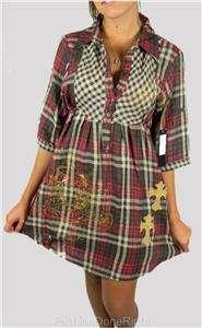 NEW ED HARDY BY CHRISTIAN AUDIGIER WOMENS RHINESTONE DRESS LOVE KILLS